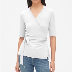 GAP soft spun wrap top L nursing friendly